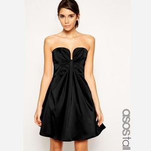 NWT ASOS Tall plunge bustier top dress